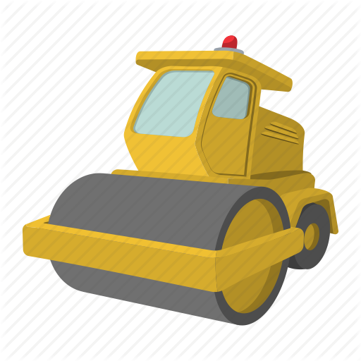 png free download Bulldozer clipart road roller. Construction cartoon by yulia.