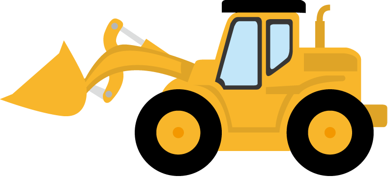 svg black and white library Simple bulldozer drawing at. Backhoe clipart silhouette