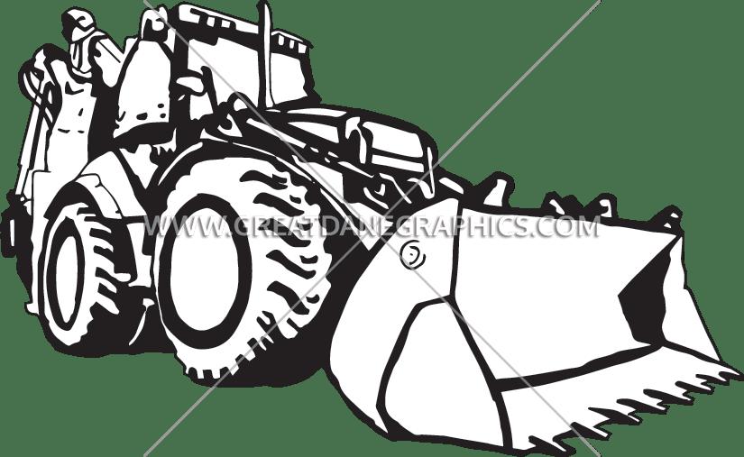 jpg transparent Production ready artwork for. Bulldozer clipart sketch
