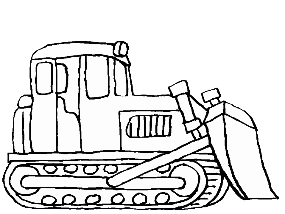 black and white download Bulldozer Drawing at GetDrawings