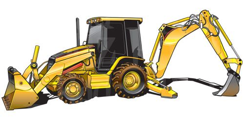picture stock Bulldozer clipart tractor caterpillar. Cat backhoe equipment pinterest