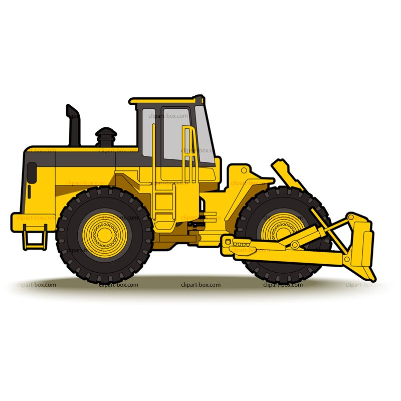 clip art transparent download Bulldozer clipart tractor caterpillar. Cat excavator free download