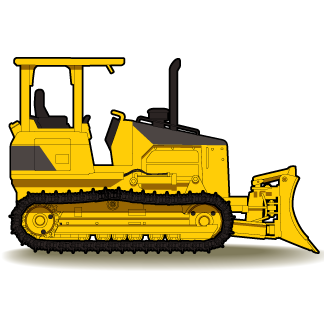jpg black and white stock Free download best on. Bulldozer clipart tractor caterpillar