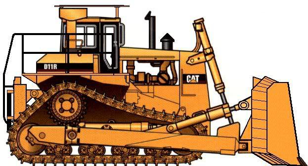 svg Collection of free dozed. Bulldozer clipart tractor caterpillar