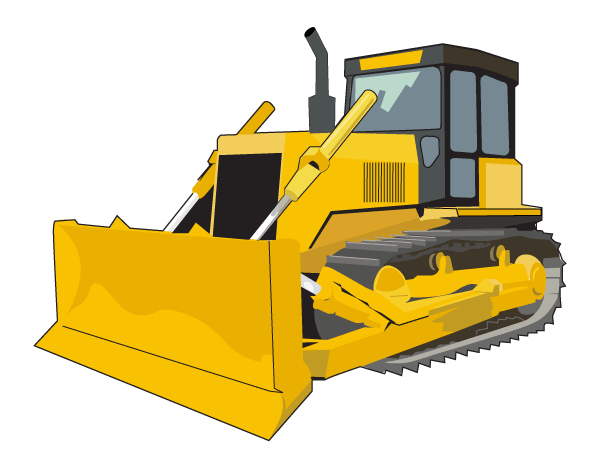 graphic black and white stock Bulldozer clipart truck. Construction equipment at getdrawings.