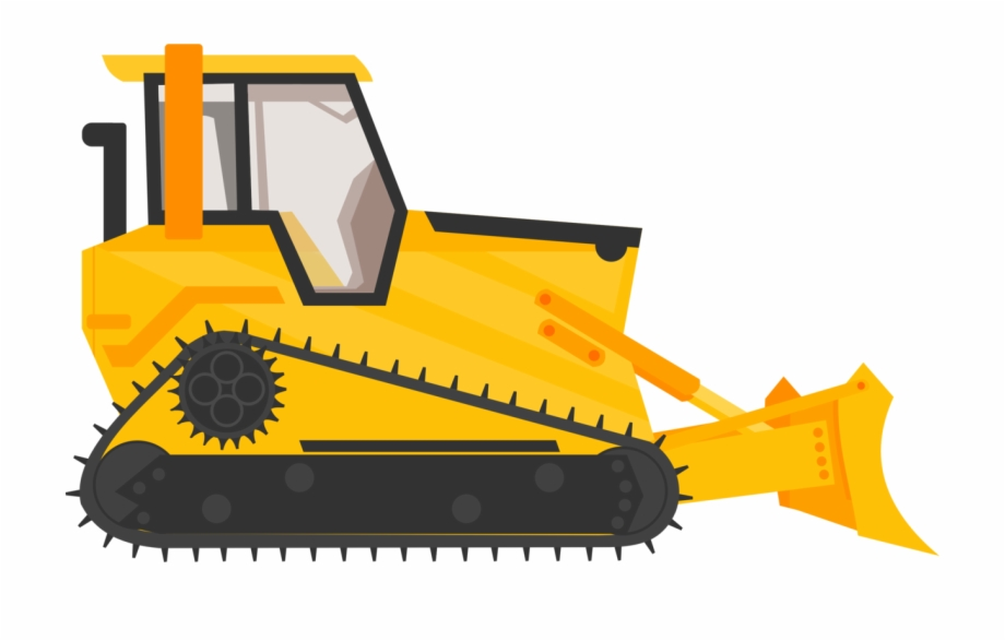 graphic royalty free download Backhoe construction . Bulldozer clipart truck.