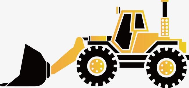 vector black and white download Bulldozer clipart vector. Site construction supplies creative.