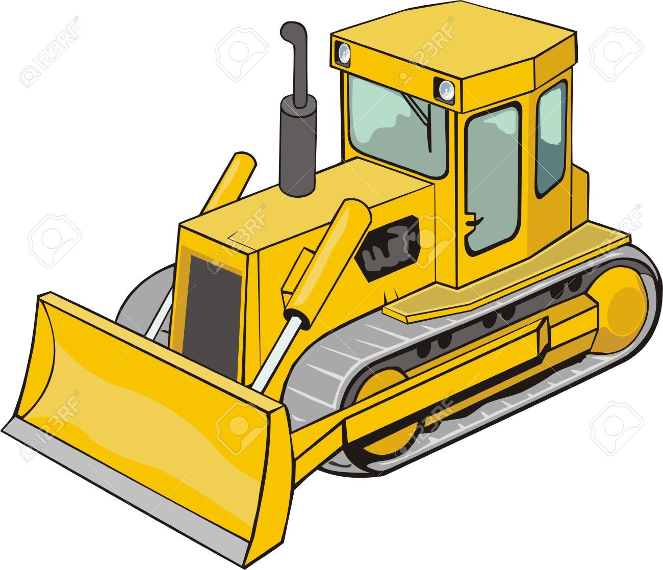 png transparent Stock anderson turns caterpillar. Bulldozer clipart vector.