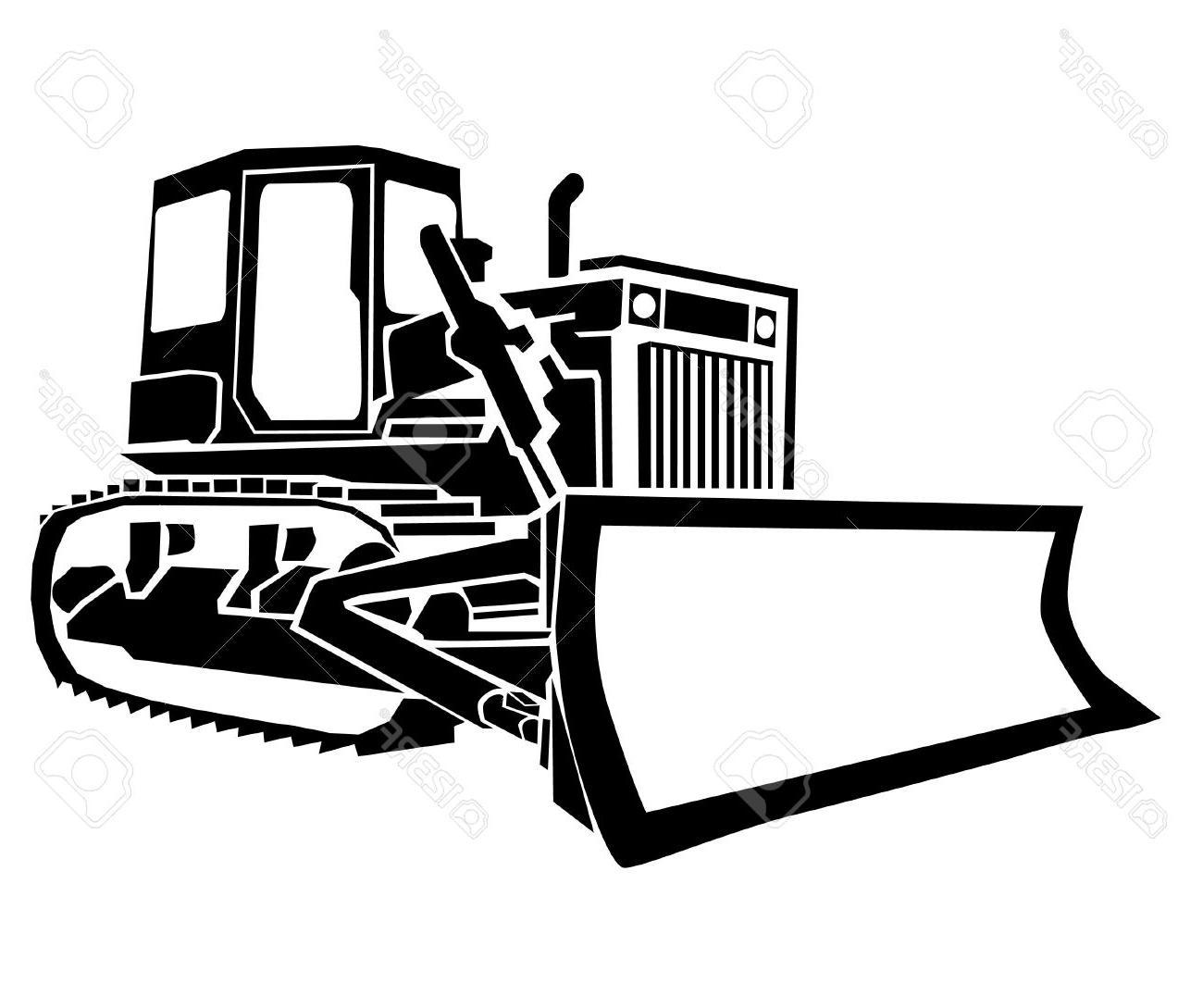 transparent stock Dozer free download best. Bulldozer clipart vector.