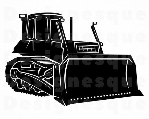 jpg royalty free Svg heavy equipment files. Bulldozer clipart vector.