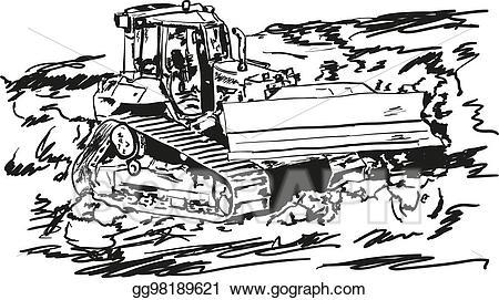 picture download Bulldozer clipart vector. Stock illustration gg .