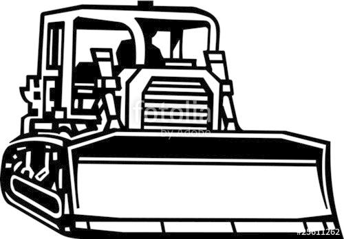 vector library stock Vinyl ready illustration stock. Bulldozer clipart vector.