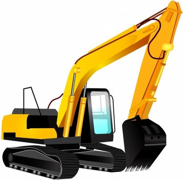 clip black and white download Bulldozer clipart vector. Excavator free download for.
