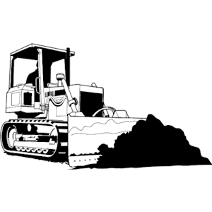 jpg freeuse stock Cliparts of free download. Bulldozer clipart vector.