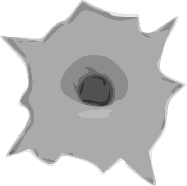 jpg stock Hole clip art at. Bullet clipart animated