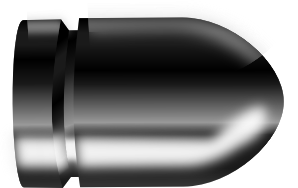 clip art black and white library Bullet clipart clip art. Plain right at clker