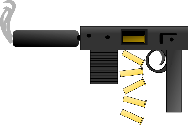 vector transparent stock Clip art gun cool. Bullet clipart revolver.