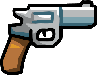 clip free download Scribblenauts wiki fandom powered. Bullet clipart revolver