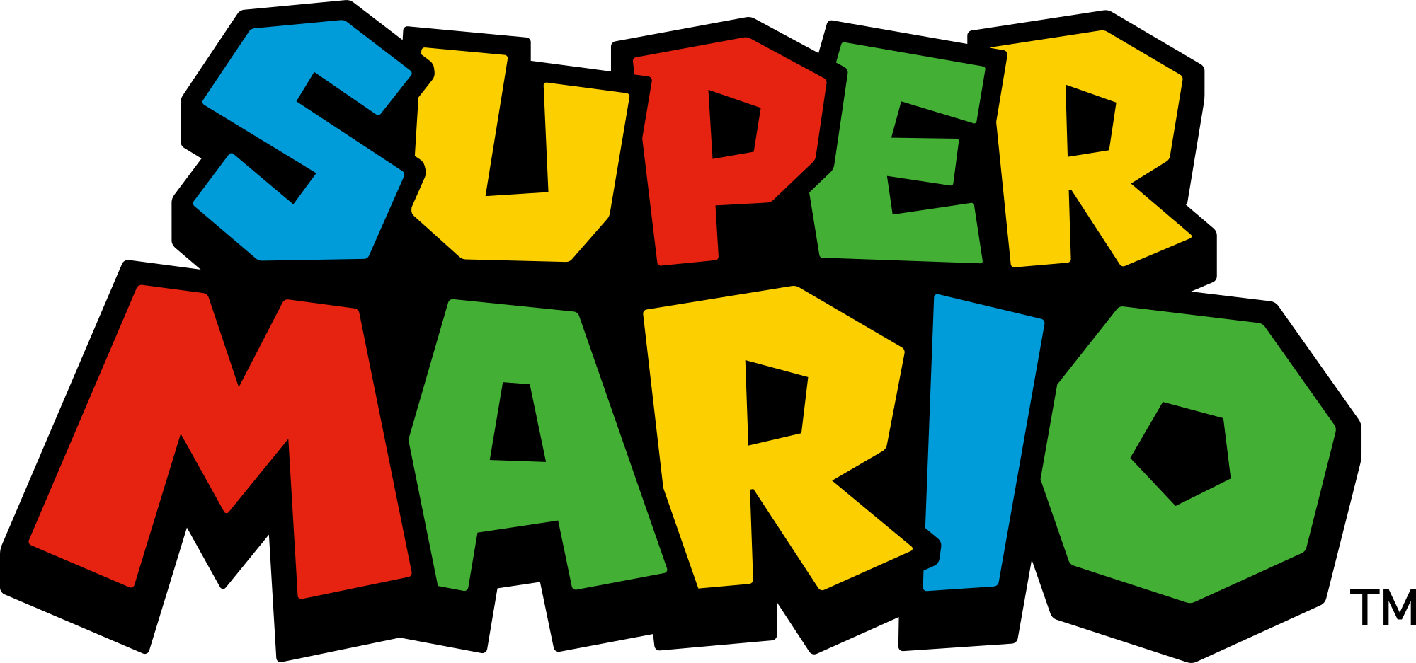 graphic royalty free download mario svg logo #99400151