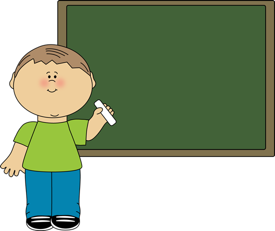 clip art library library Bulletin clipart chalkboard. Boy pointing to clip