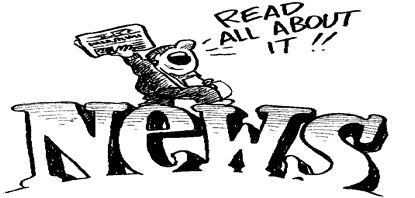 clip art black and white library News monaca united methodist. Bulletin clipart church newsletter