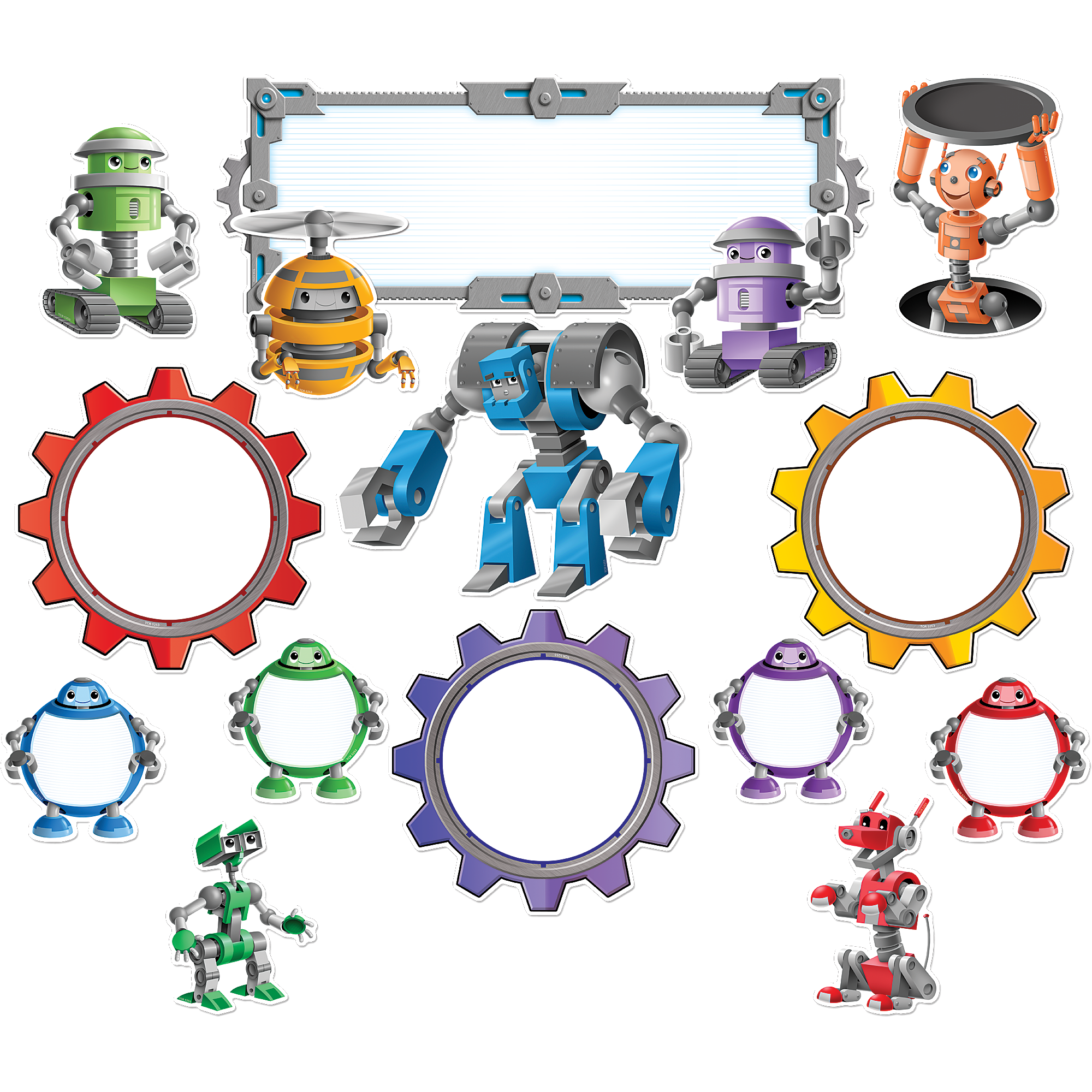 image free download Bulletin clipart info board. Robots display set school