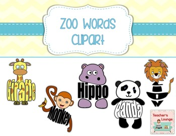 clipart transparent stock Bulletin clipart lounge. Zoo themed word