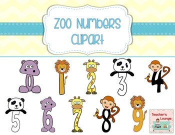 image stock Bulletin clipart lounge. Zoo themed numbers
