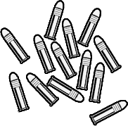 clipart black and white download Bullets drawing. Image fnv lr rounds