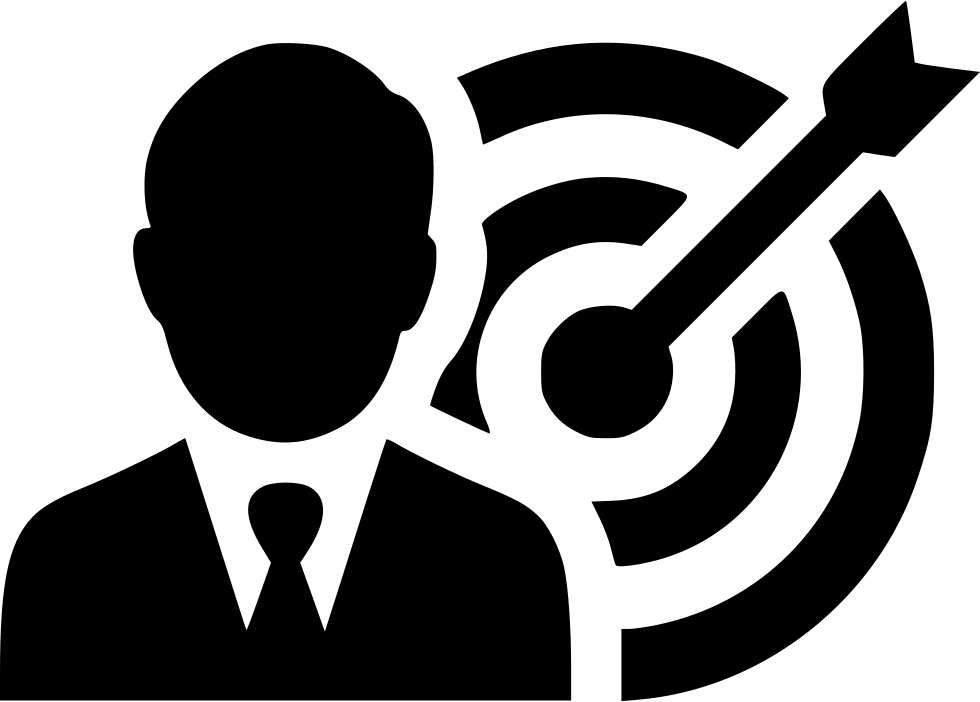 png royalty free library Man target success svg. Bullseye clipart goal