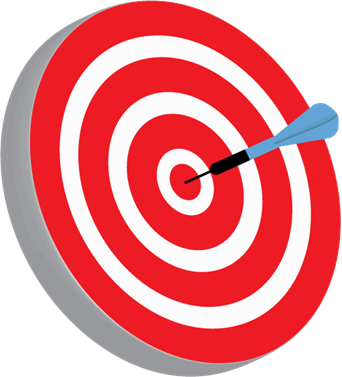 transparent Bullseye clipart goal. Edsi setting attainable goals