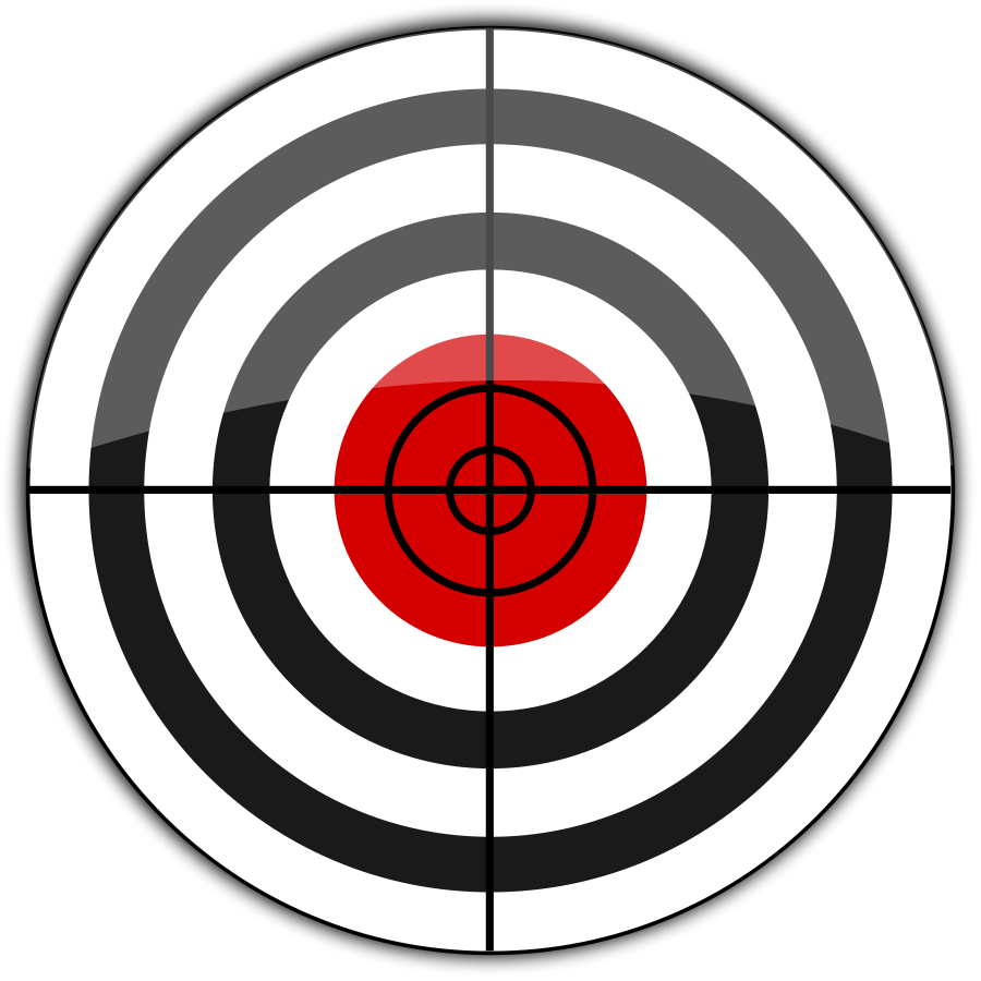 vector freeuse Laser tag clip art. Gun target clipart
