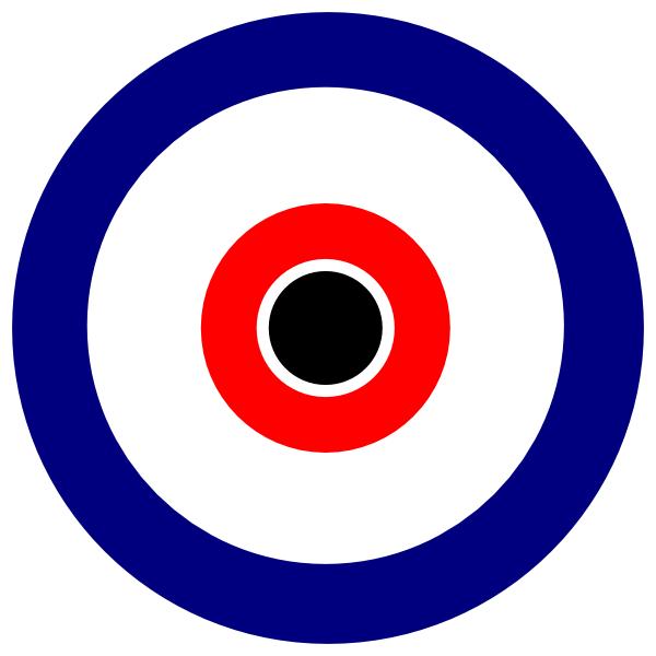 picture Bullseye clipart mod. Black center clip art.