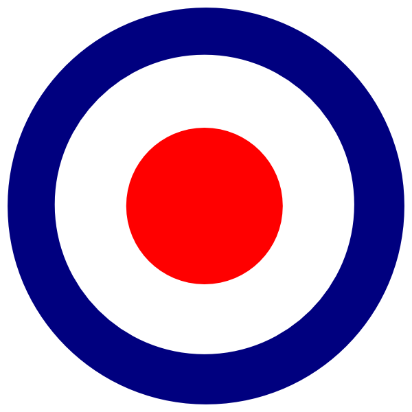 graphic black and white Bullseye clipart mod. Large targets .