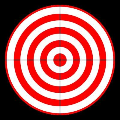 clip freeuse Gun target clipart. Bullseye targets printable pvz
