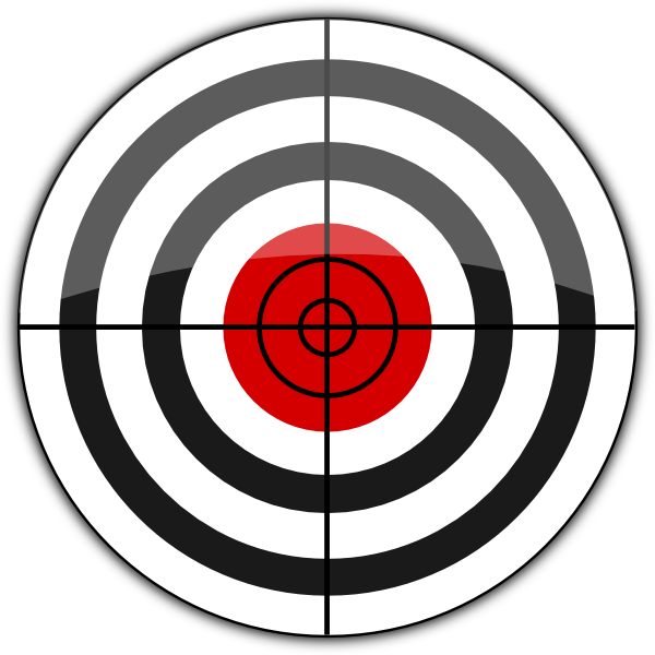 picture royalty free library B target icon clip. Bullseye clipart mod