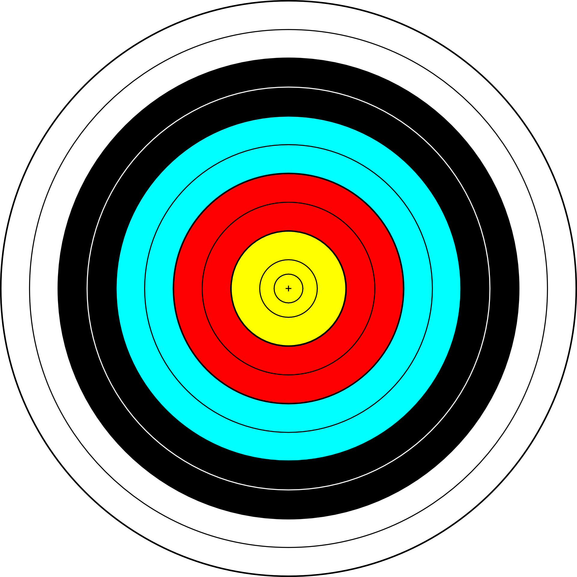 picture free Bullseye clipart precision. Target archery shooting clip