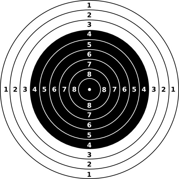 jpg transparent download Bullseye clipart target gun. Rifle shooting targets printable