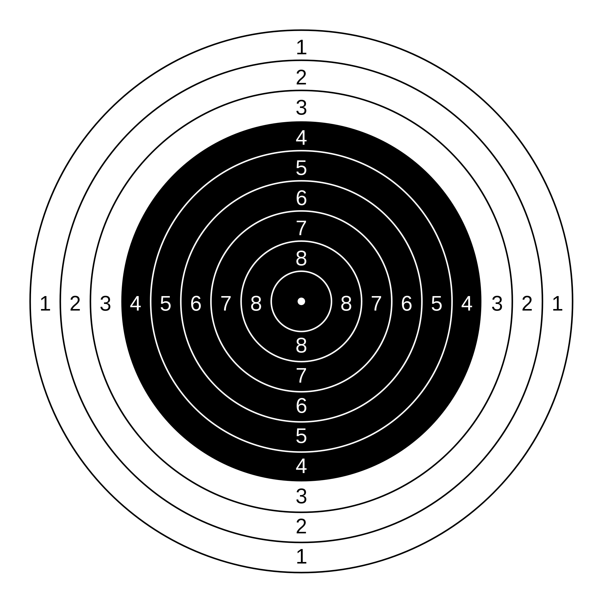 vector black and white stock target drawing print #104542527