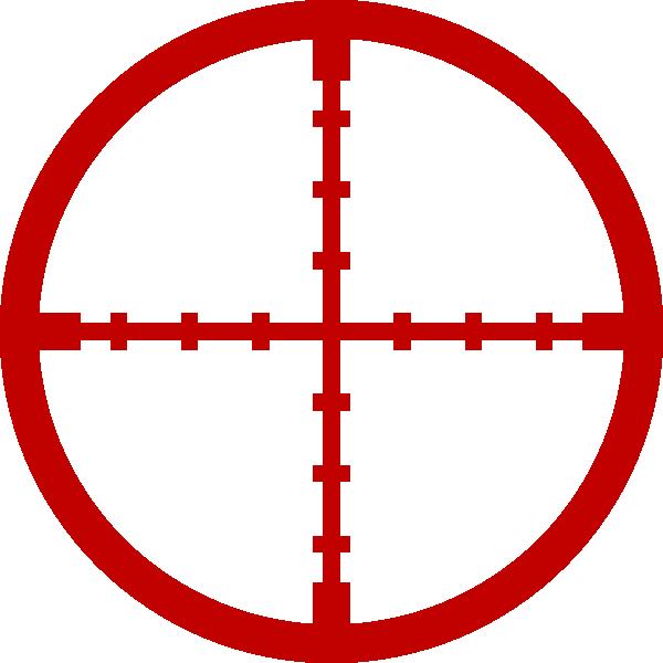 vector Red Snipper Target Clip Art at Clker