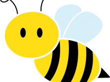 banner royalty free library Bee free clip art. Bumble clipart