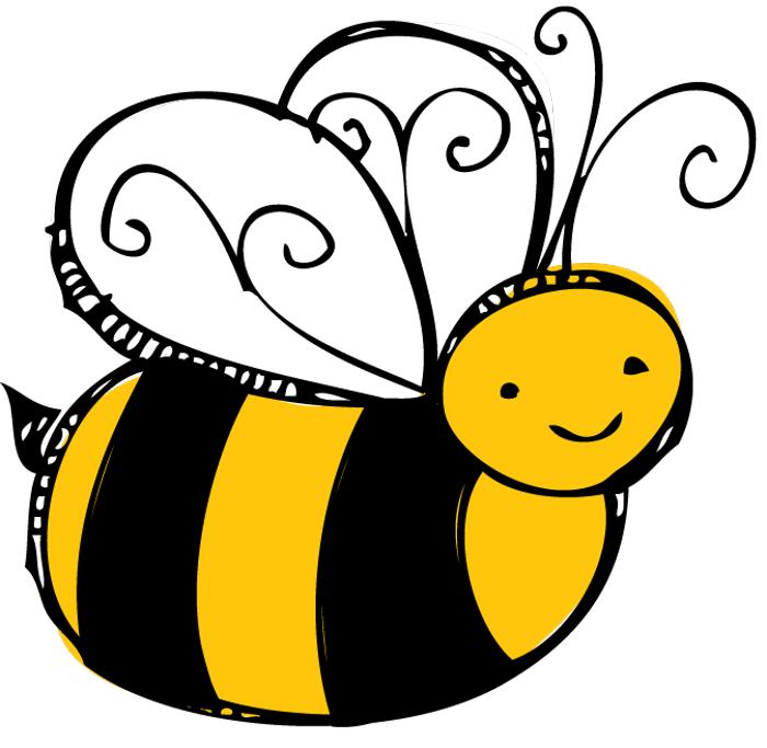 jpg royalty free library Bumble clipart bee love. Cute clip art bees