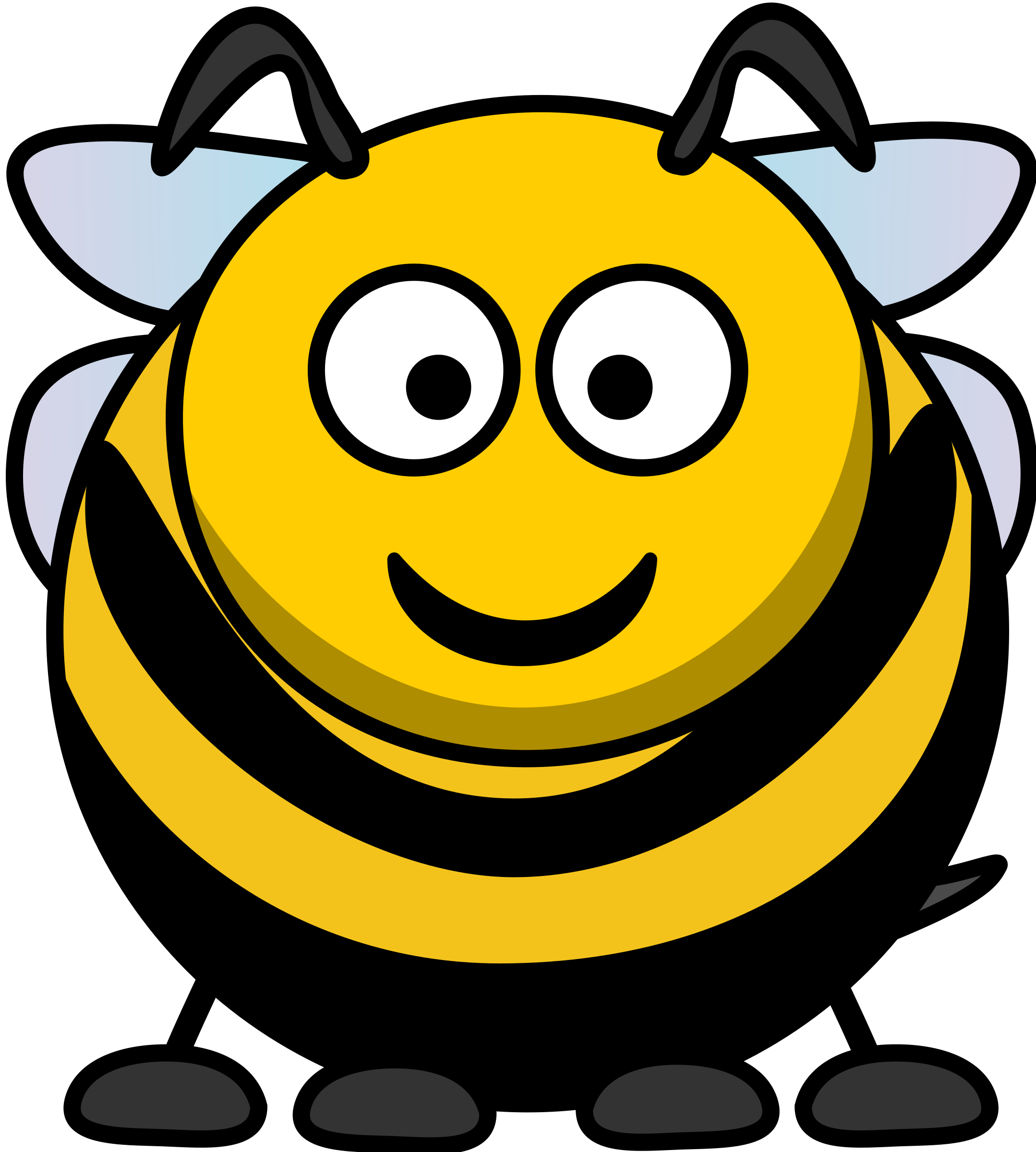 freeuse library Bumble clipart big bee. Cartoon image png