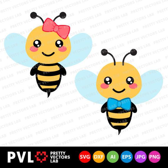 clip art transparent stock Bumble clipart boy. Bee svg girl dxf.