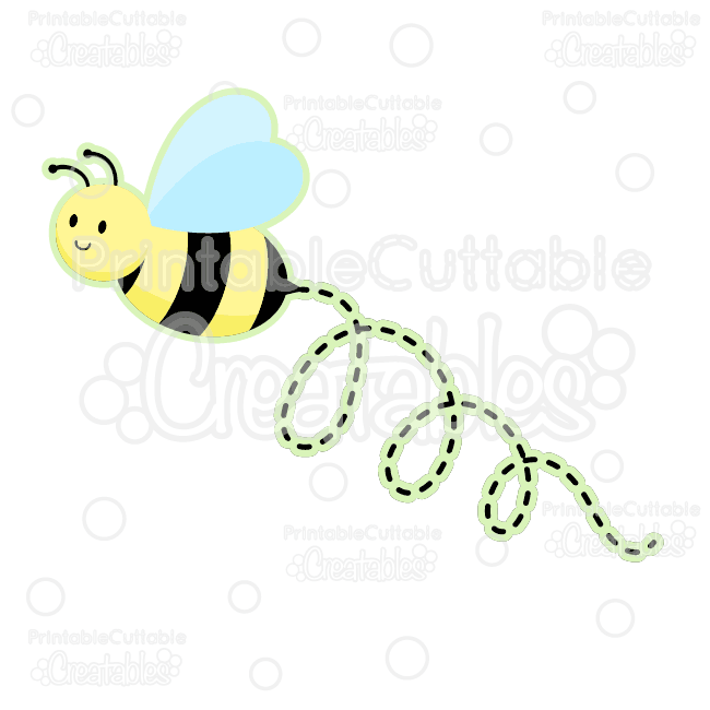 library Bumble clipart file. Cute bee free svg.