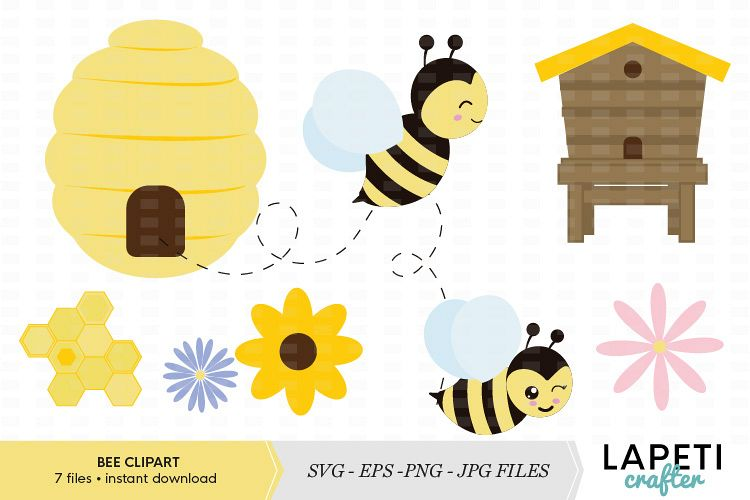 clip freeuse library Bee vector illustration . Bumble clipart file