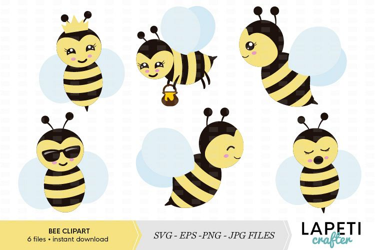 graphic transparent stock Bee set vector illustration. Bumble clipart file