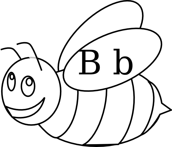 image freeuse library Bee outline clip art. Bumble clipart file