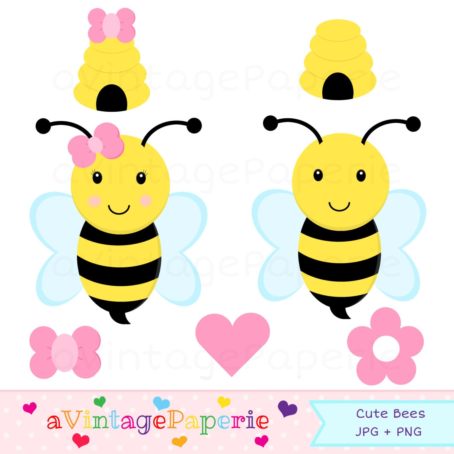graphic freeuse Bumble clipart girly. Bee clip art commercial