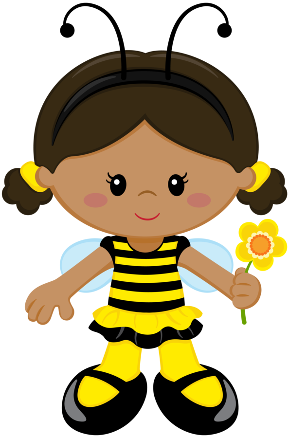 image free stock Bee girl clip art. Bumble clipart girly